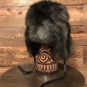 DANIER Ladies Faux Fur Bomber Hat- dark grey